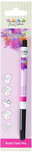FunCakes Edible FunColours Brush Food Pen - schwarz, 5er Pack (5 x 1 g) (Ideale Tinte Schwarz)
