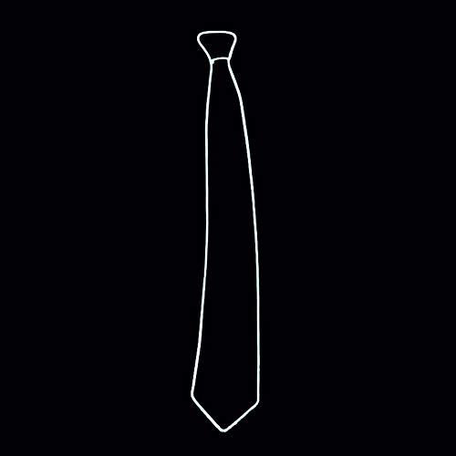 htende Krawatte Einstellbare EL Draht LED Glühend Krawatte für Weihnachten Halloween Rave Party (Weiß) ()