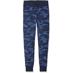 Sanetta Pants Long Allover Bas De Pyjama, Bleu (Classic Blue 5968), 140 Garçon