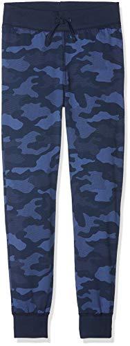 Sanetta Jungen Schlafanzughose Pants Long Allover Blau (Classic Blue 5968) 152