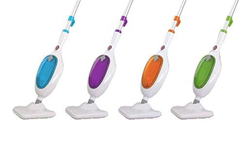 Eglemtek steam mop multifunzione 10 in 1 - scopa a vapore elettrica intelligente lavapavimenti - con 2 panni inclusi - dimensioni : 48 x 14 x 12 cm