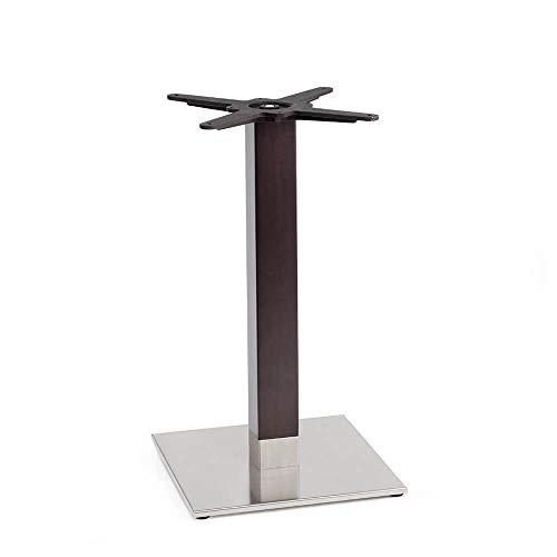 Scab Set 2 Design Tiffany Natural Base Table carrée Acier INOX Mat et hêtre wengè