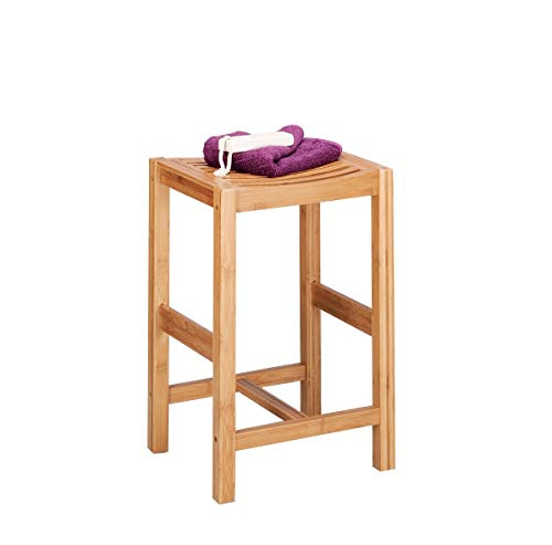 Zeller 13576 Sgabello in legno di bambù 35 x 30 x 55 cm