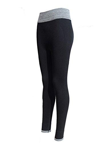 Minetom Donna Sport Pantaloni Full Length Pants Yoga Sportivi Athletic Gym Fitness Leggings Nero EU S