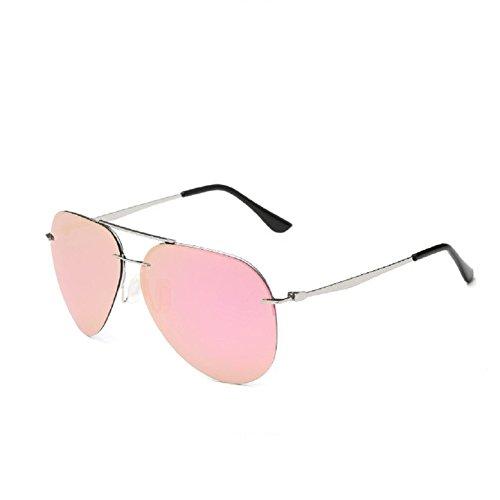 O-C Damen Sonnenbrille Rosa silver frame,pink lens
