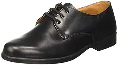 BATA Men's S Stride Black Leather Formal Shoes-8 UK (42 EU) (8246158)