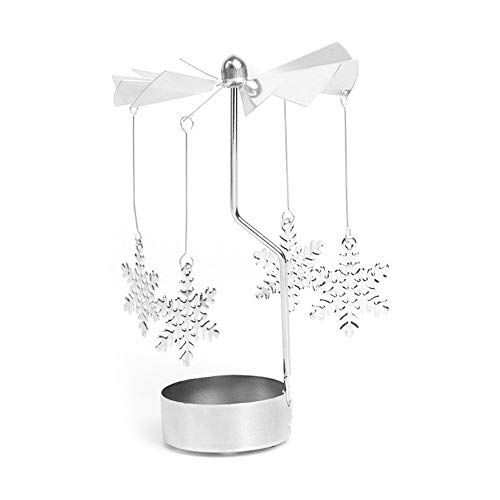 TAOtTAO Engels-Kitz-Liebes-Sterne, die Metallkerzenhalter Drehen Rotary Spinning Teelicht Kerze Teelichthalter Karussell Home Decor Geschenk ()
