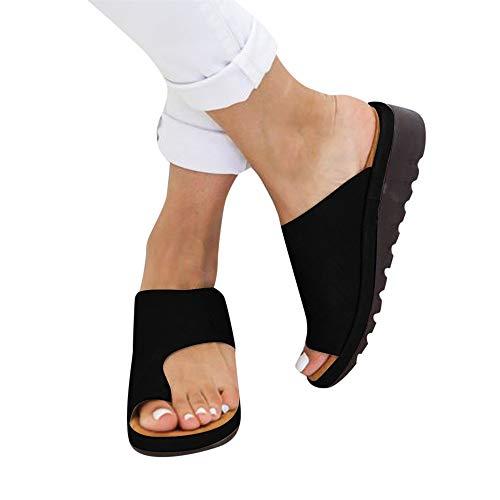 FELZ Sandalias para Mujer Verano 2019 Zapatos de Playa Pisos Cuñas Za