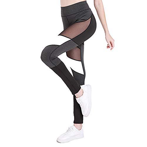 Yoga Hosen Piebo Yoga Pants Damen Pilates Sport Martial Arts Fitness Gymnastik Tanz Hosen Perspektive Spleißnetz Yoga Leggings Hosen Yoga Hosen Bauch Kontrolle Workout Yoga Hosen Leggings