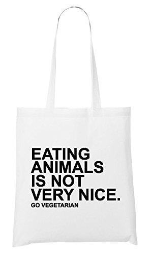 Eating Animals Is Not Nice Sac Blanc