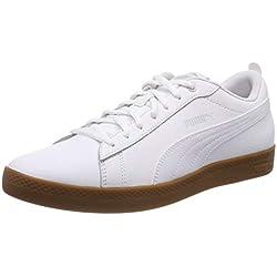 Puma Smash Wns v2 L, Zapatillas para Mujer, Blanco White-Gray Violet-Gum, 42.5 EU
