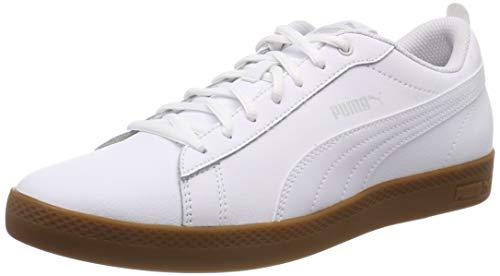 Puma Damen Smash WNS V2 L Sneaker, Weiß (Puma White-Gray Violet-Gum), 37 EU
