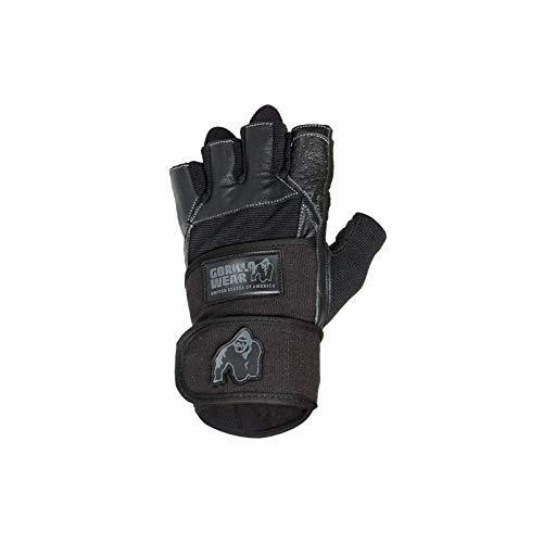 Gorilla Wear Dallas Wrist Wrap Gloves - schwarz Bodybuilding und Fitness Accessoires für Herren, M