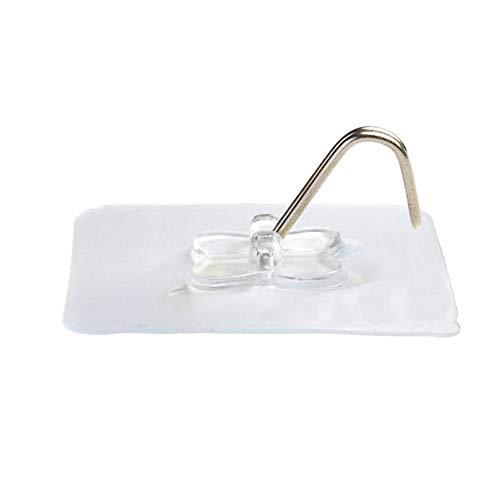 Millster 2pcs traceless gancio gancio potente 513sucker trasparente punching-free bagno cucina gancio da parete