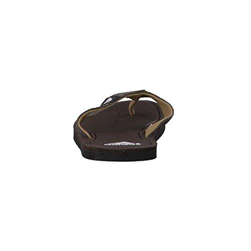 Adidas Flip Flops Leder Herren Schwarz-Braun night brown/ftwr white/leather