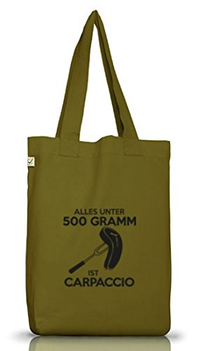Shirtstreet24, CARPACCIO, Barbecue Grillen Jutebeutel Stoff Tasche Earth Positive (ONE SIZE) Leaf Green