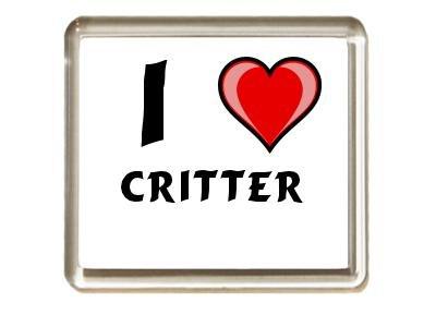 Ich liebe Critter Kühlschrankmagnet (Vorname/Zuname/Spitzname)