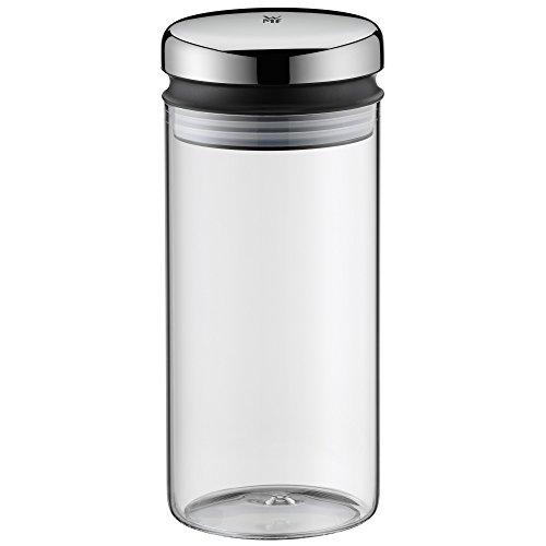 WMF Depot Vorratsglas, 1,0 l, Höhe 21,5 cm, Glas, Vorratsdose, Frischhaltedose zum Aufbewahren,...