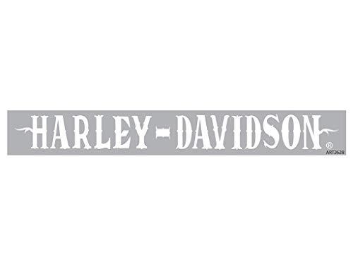 Harley-Davidson Aufkleber White XpressionZ - Windshield (Aufkleber Harley Buchstaben Davidson)