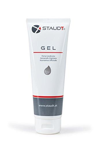 STAUDT Gel Tube 125 ml - wohlriechende Salbe gegen Arthrose, Arthritis, Rheuma und Gelenkschmerzen aus Grünlippmuschelextrakt und pflanzlichen Wirkstoffen - eine gute Alternative zu Murmeltier-Salbe, Grünlippmuschel-Kapseln und Glucosamin-Pulver/Tabletten (SomniShop Set L 100)