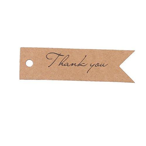 Papier Hochzeit Favor Geschenk Aufhängen Label Tag Bindfäden 2Farben 100Stück-BRAUN ()