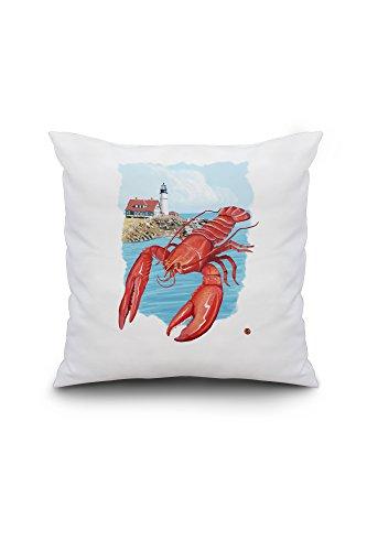 lobster-red-18x18-spun-polyester-pillow-case-custom-border