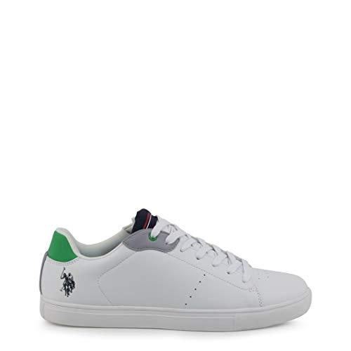 U.S. Polo Assn. 4051S9/Y1 Herren Sneakers Weiß, EU 45 (Us Polo Damen Sneaker)