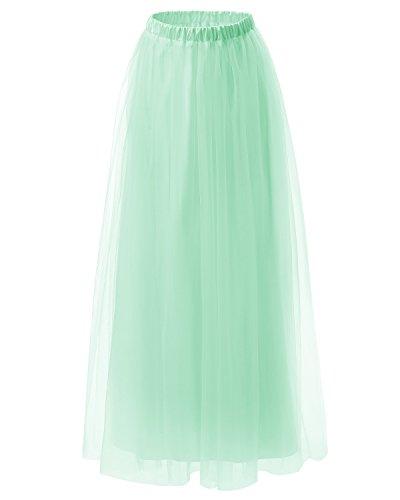 Dresstells jupe tutu années 50 vintage en tulle Rockabilly longueur ras du sol Menthe