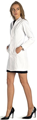 Dr. James Stilvolle Tailored Fit Damen Lab Coat 86,4 cm Länge,, Größe EU 38; M, Farbe Weiß