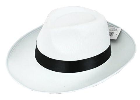 Costumes Hommes Blanc Gangster - LOT DE 6 CHAPEAUX DE GANGSTER ILOVEFANCYDRESS