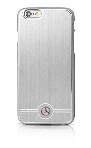 Mercedes Pure Line Aluminium MEHCP6BRUAL Custodia Rigida in Alluminio per iPhone 6, Argento