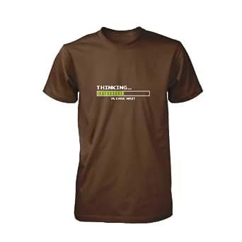 Thinking T-Shirt, Größe S, braun