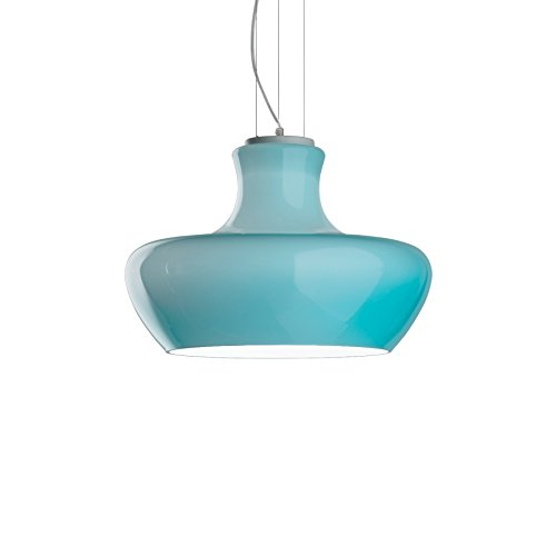 Ideal Lux Lampe Aladino Suspension Structure Métal Salle SP1 D45 Bleu
