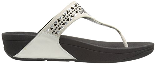 FitFlop - Carmel Toe-post, Sandali Donna Bianco