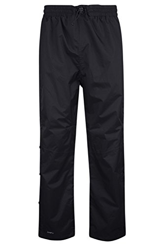 Mountain Warehouse Downpour Mens Trousers - Waterproof Rain Pants, Breathable Bottoms, Taped Seams, Ripstop, Side Leg Zip, Mesh Lined Casual Pants -for Travelling