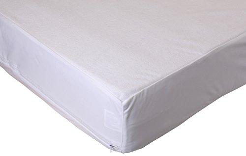 Betz Matratzenschonbezug mit Reißverschluss Spannbetttuch Spannbettlaken Bettlaken Betttuch100x200x25 cm Baumwolle Farbe Weiß
