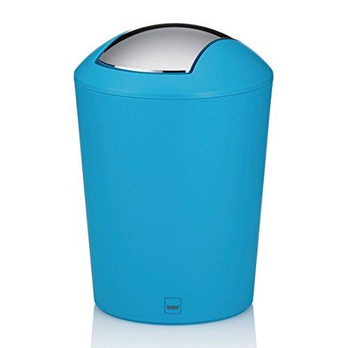 kela-22290-marta-poubelle-de-salle-de-bain-avec-couvercle-bascule-plastique-turquoise-17-l