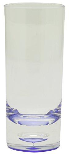 Acryl Brillenständer blau Hoher Tumbler, 12 Stück, Transparent