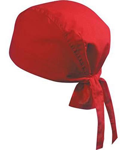 noTrash2003 Design Bandana Cap Mütze Kopftuch verschiedene Farben für Sport und Freizeit (Rot) -
