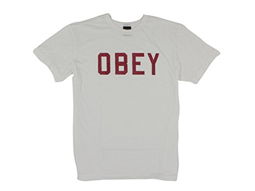 Obey, Uomo, Collegiate Heather Triblend Tee, Poliestere, T-Shirt, Bianco, S EU
