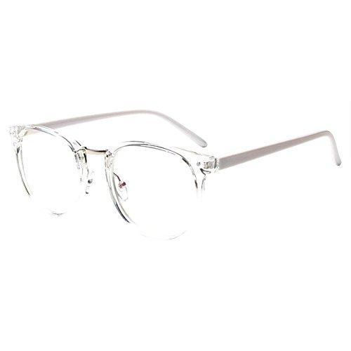 Forepin® Retro Occhiali Rotondi Cornice con Lenti Trasparenti Vista Occhio Frame Struttura Vetri Ottici Pianura per Uomo Donna - Stile 8