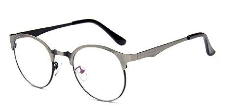 Embryform 2016 Metall Stahlhaut retro runde Brille normalen Spiegel gebürstet texture2979 (Günstigsten Kontaktlinsen)