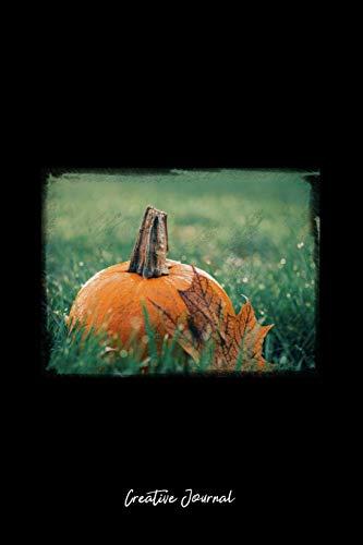 Green Maple Leaf (Creative Journal: Dot Grid Journal - Green Grass Maple Leaf Pumpkin Halloween - black Dotted Diary, Planner, Gratitude, Writing, Travel, Goal, Bullet Notebook - 6x9 120 pages)