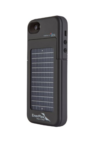 GoEnerplex Handyhülle kompatibel mit iPhone 5, Energy Pack Surfr Akku-/Solarhülle schwarz, SFI-2000-BK -