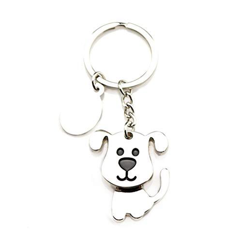 SHIJIANDE Neuheit Anhänger Halsketten Schütteln Kopf Lustige Hund Katze Form Schlüsselanhänger Metall Dog Tag Schlüsselanhänger Personalisierte Anhänger Schmuck Geschenk (Personalisierte Dog Tags Für Freund)