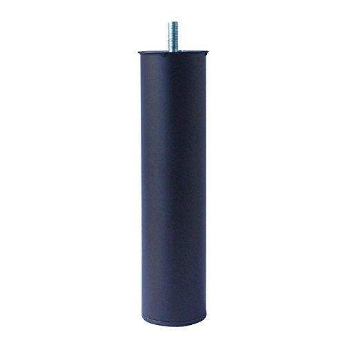 Home System 646001 Piedino Tondo in Metallo per Reti Doghe Letto Ø 60-Altezza 25 cm. Nero, 60 x 25 cm