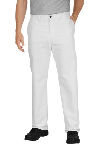 Dickies - - Männer LP8122 Industrie Flat Front Pant, 44W x UU, White Industrie-flat Front Pant