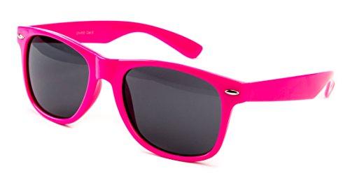 Sonnenbrille Nerdbrille Nerd Retro Look Brille Pilotenbrille Vintage Look - ca. 80 verschiedene Modelle Knall Pink
