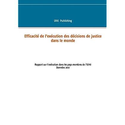 Efficacité de l'exécution des décisions de justice dans le monde: Rapport sur l'exécution dans les pays membres de l'uihj