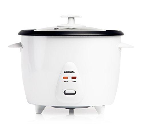 Sabichi Premium Reiskocher mit Warmhaltefunktion | 1,8 Liter Reisgarer | Mit Glasdeckel, Messbecher...